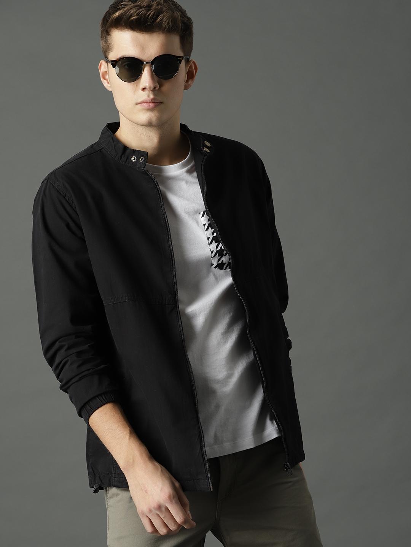 Buy Roadster Men Black Solid Tailored Jacket - Jackets for Men 6411326 |  Myntra