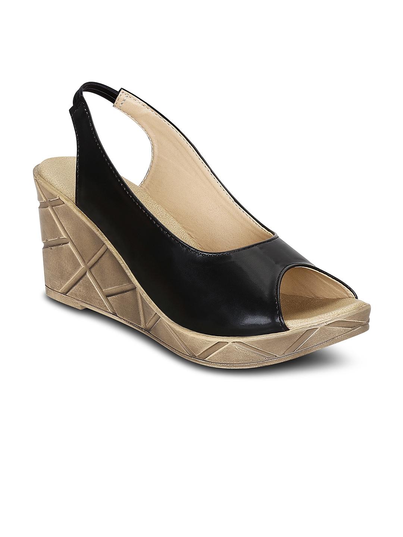 3c7a8de6ccf884 Buy Get Glamr Women Black Solid Sandals - Heels for Women 6474448 ...
