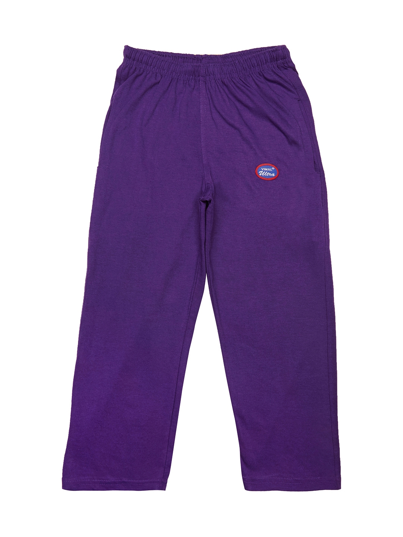 VIMAL JONNEY Girls Purple Solid Slim Fit Track Pants
