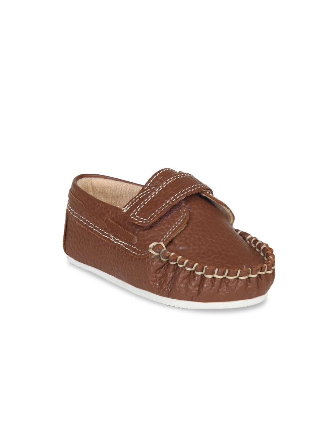 3dbd29bbc02 Buy Beanz Boys Brown Leather Loafers - Casual Shoes for Boys 6499714 ...