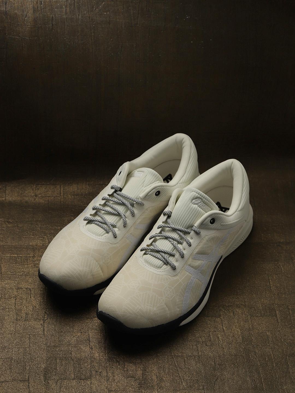 nouveau style 29b7f 1c073 ASICS Unisex Cream-Coloured fuzeX Rush Kaleidoscope Running Shoes
