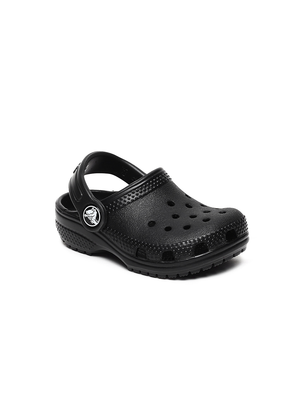 43bfb0c44c62 Buy Crocs Unisex Black Solid Classic Clogs - Flip Flops for Unisex ...