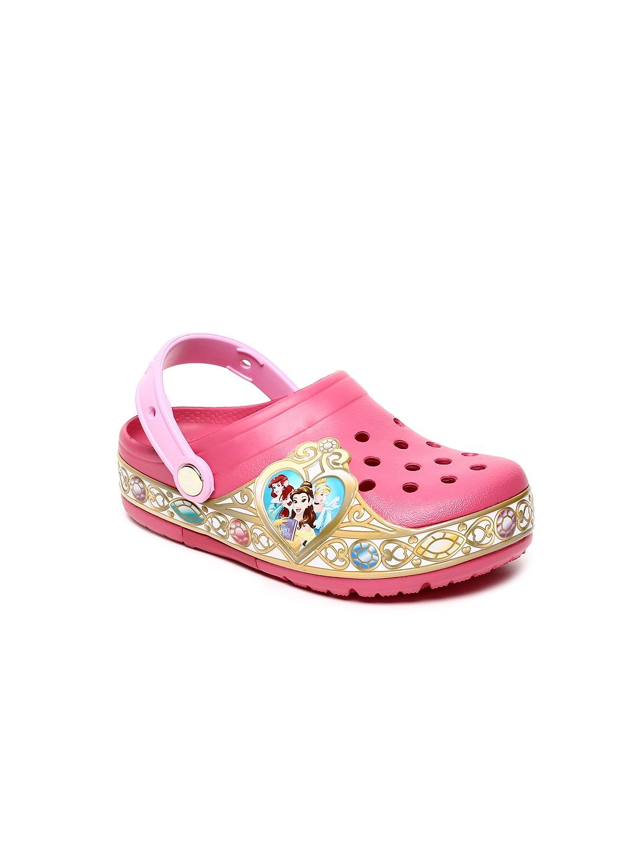 6119eae9a298 Buy Crocs Girls Pink Disney Motif Embellished Clogs - Flip Flops for ...