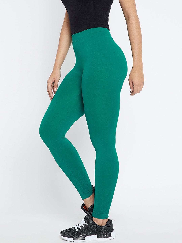 a9c2f64ca382 Buy C9 Women Green Ankle Length Leggings - Leggings for Women ...