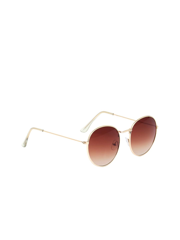 VAST Unisex Brown Round Sunglasses 3447_C14_ROUND_GOLDEN_ BROWN