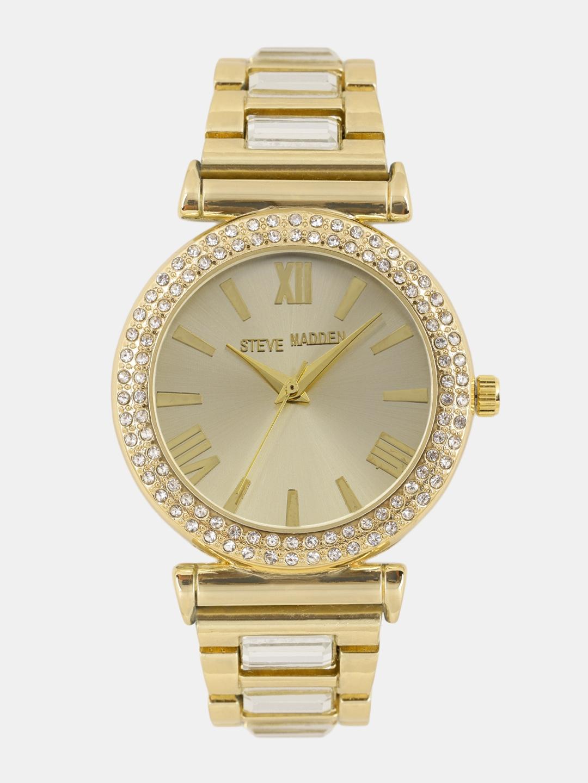 af888754d16 Steve Madden Women Gold-Toned Embellished Analogue Watch SMW169G