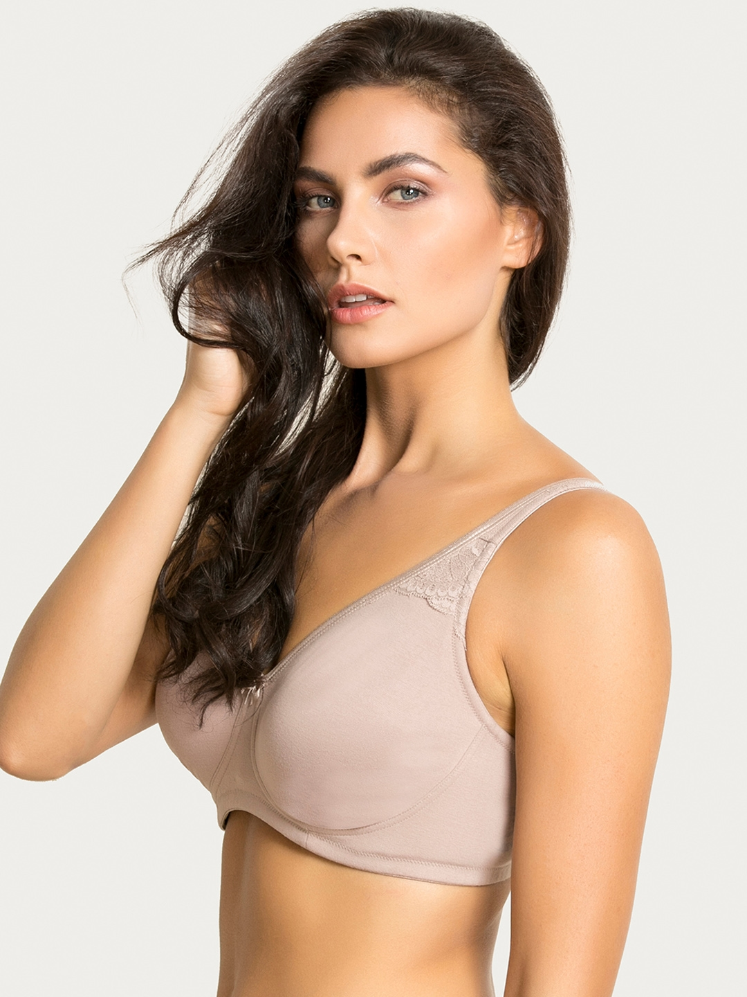Buy Zivame Nude Coloured Solid Non Wired Lightly Padded T Shirt Bra ...
