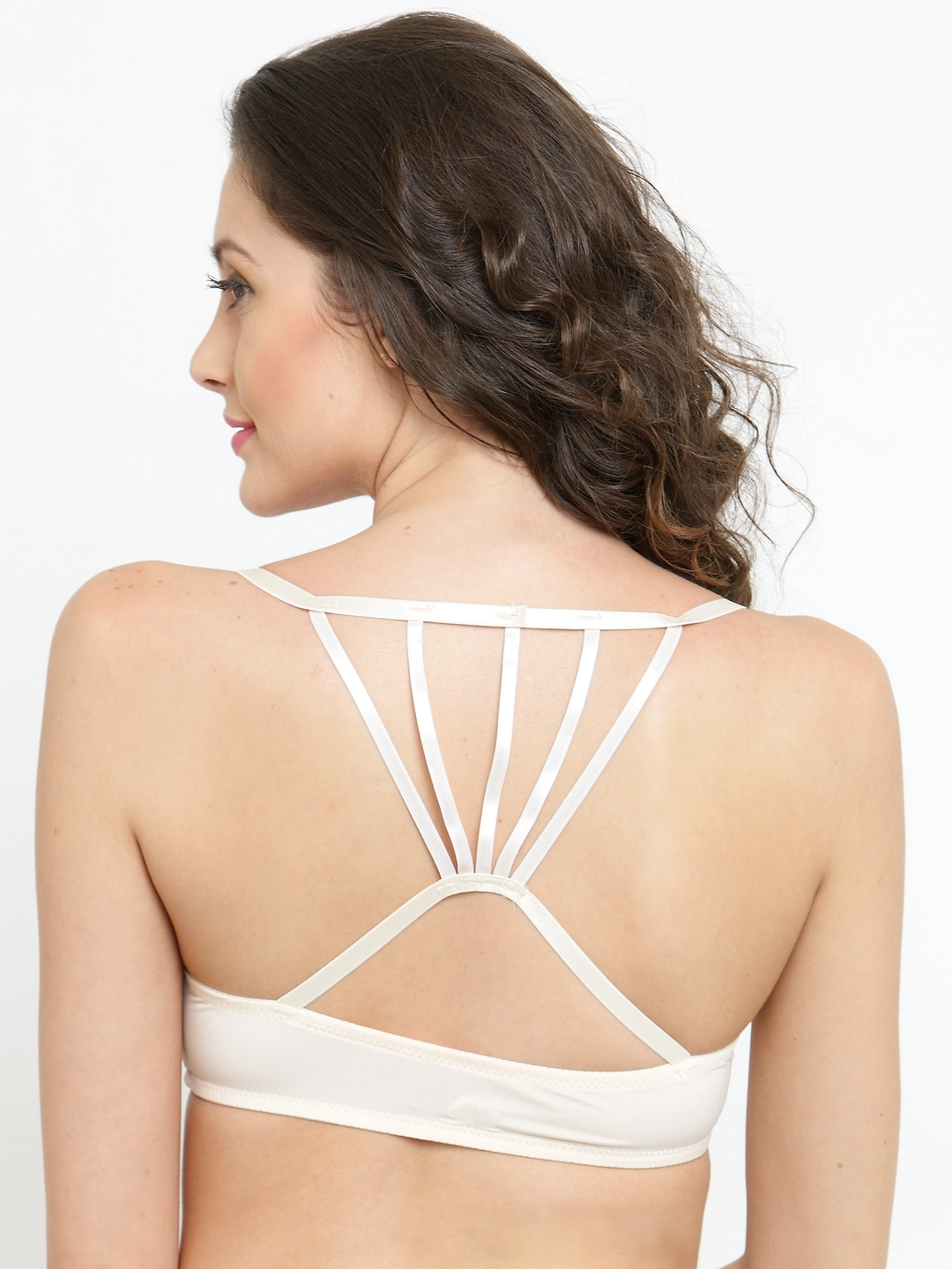 90699db42593c PrettyCat Cream-Coloured Solid Underwired Heavily Padded Front Open Push-Up  Bra PC-BR-5065