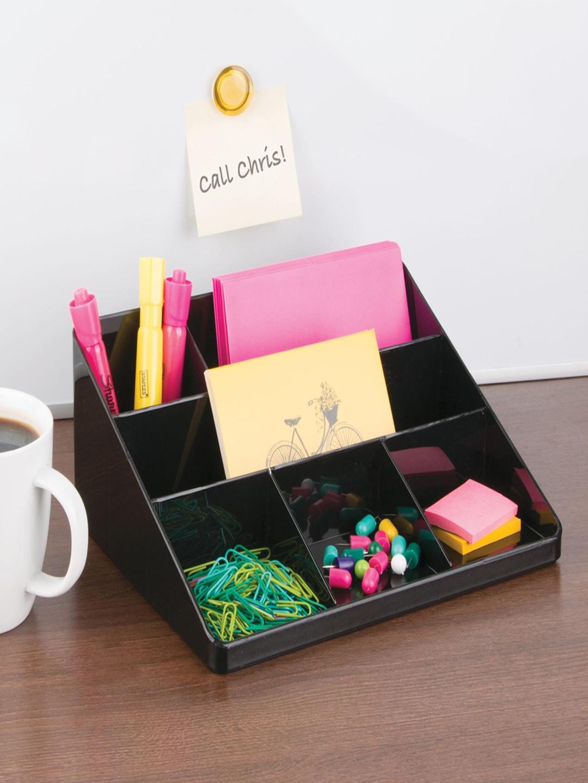 InterDesign Black Plastic Multipurpose Organiser