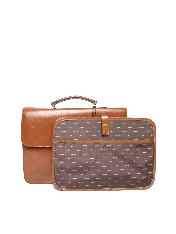 Aldo Men Brown Solid Messenger Bag