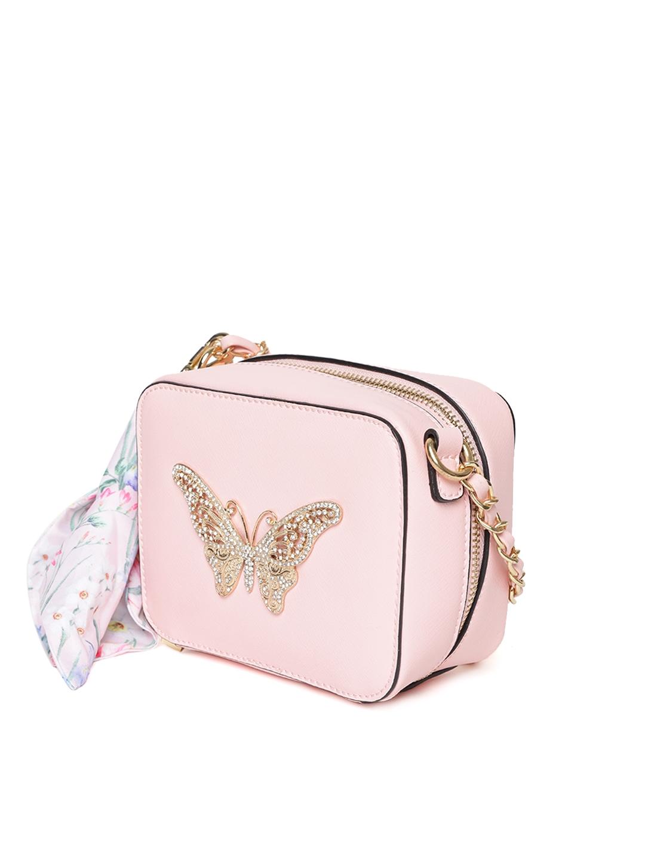 a75669b6290 Buy ALDO Pink Butterfly Shaped Embellished Sling Bag - Handbags for ...