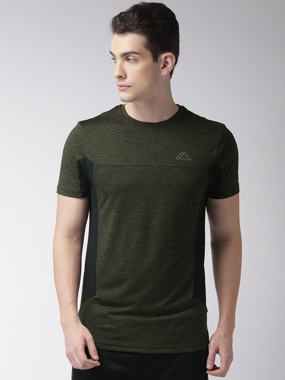 Zanahoria Perezoso Pólvora  Buy Kappa Men Olive Green Solid T Shirt - Tshirts for Men 6541487 | Myntra
