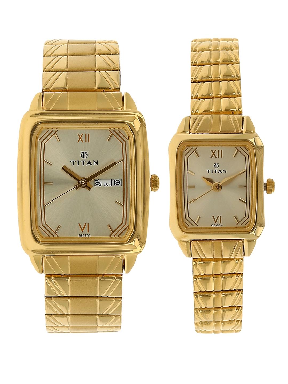 Titan Karishma Bandhan Men Gold Analogue Watch Gift Set NL15812488YM05