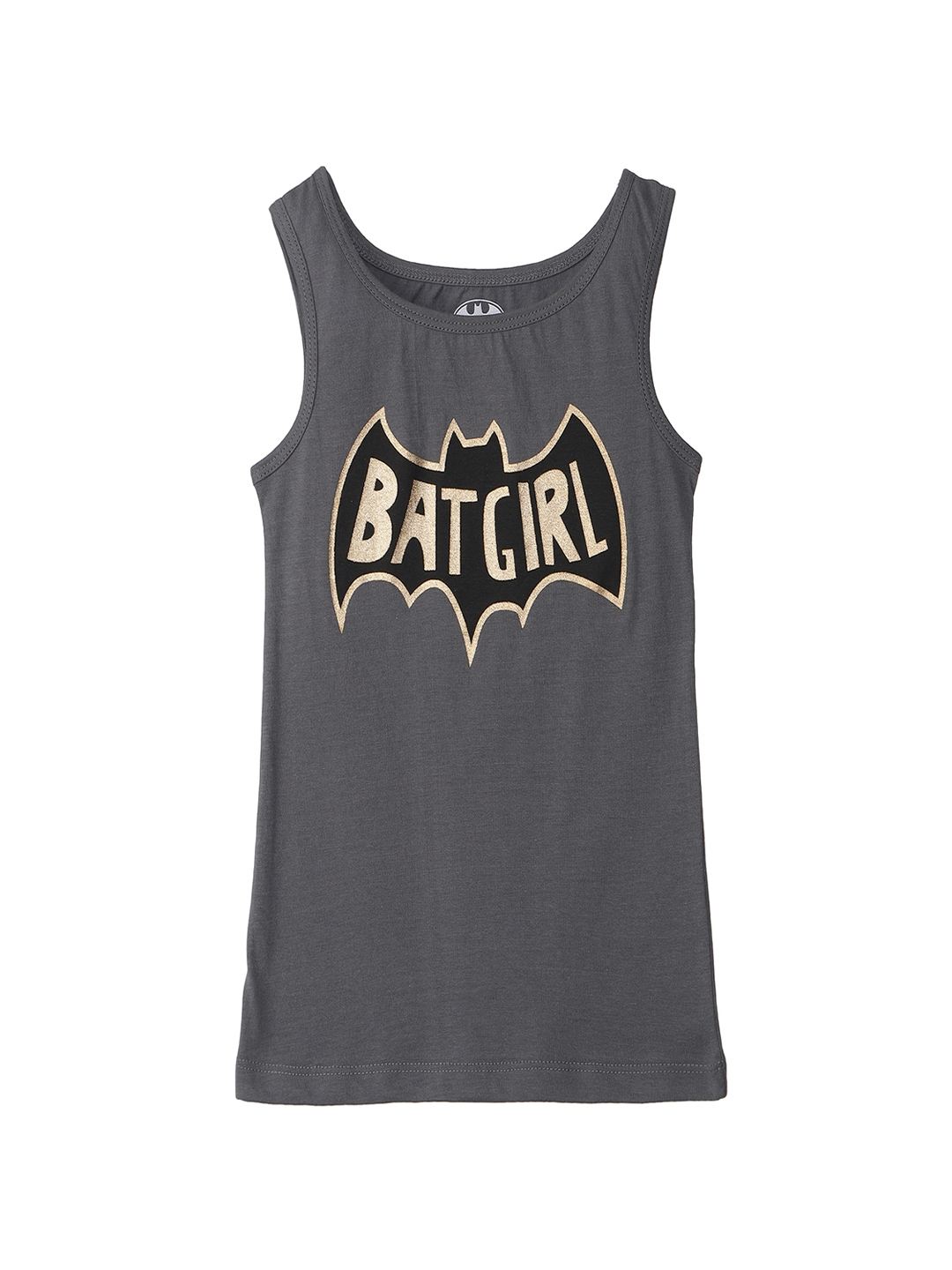 788b424b544e8 Buy Bat Girl By Kidsville Grey Printed Round Neck T Shirt - Tshirts ...