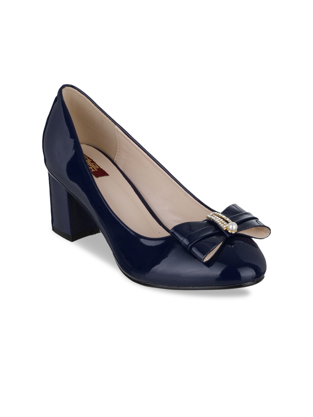 549651bcd42 Buy SHUZ TOUCH Women Navy Blue Solid Pumps - Heels for Women 6545973 ...