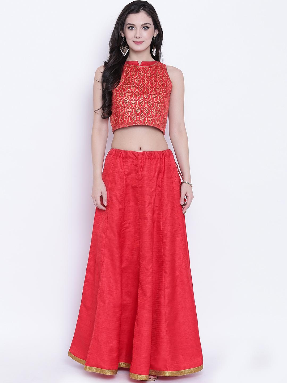 59c4842ae012 Buy Studio Rasa Red Ready To Wear Lehenga With Blouse - Lehenga ...