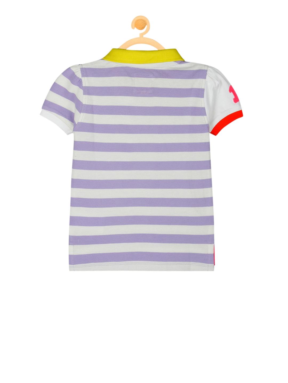 0656e436 Buy Cherry Crumble Boys Purple Striped Polo Collar T Shirt - Tshirts ...
