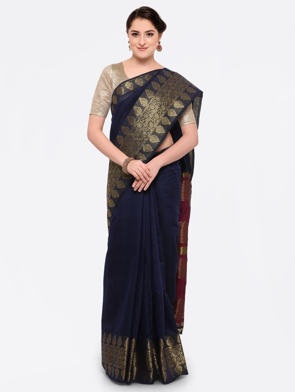 f14575750e bhelpuri peach chanderi cotton zari woven saree with chanderi cotton ...