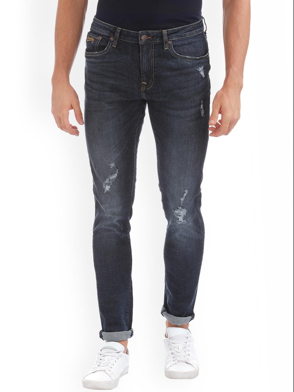 45b81421767 Buy Aeropostale Men Blue Super Skinny Fit Mid Rise Low Distress ...