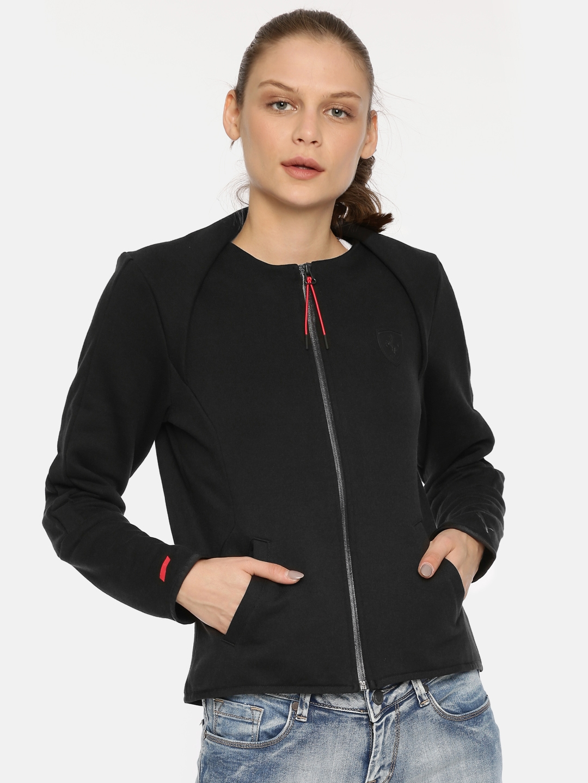 Puma Women Black Ferrari T7 Sporty Jacket