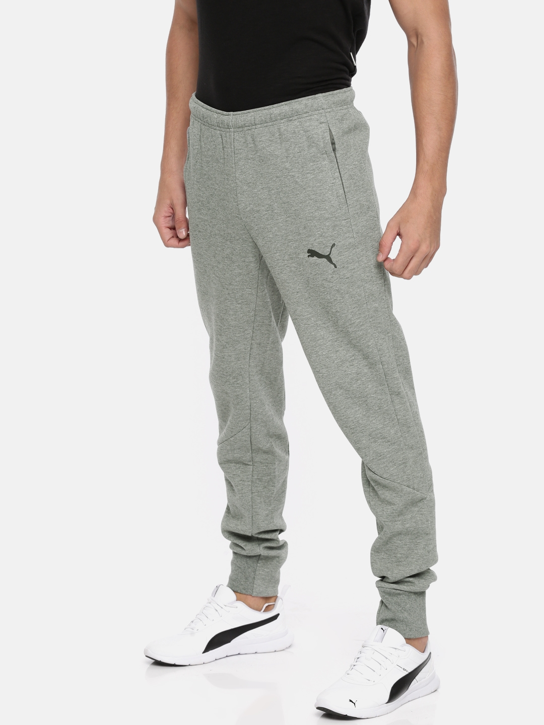 9ddb00983 Buy Puma Men Grey Ascension Casuals Solid Joggers - Track Pants for ...