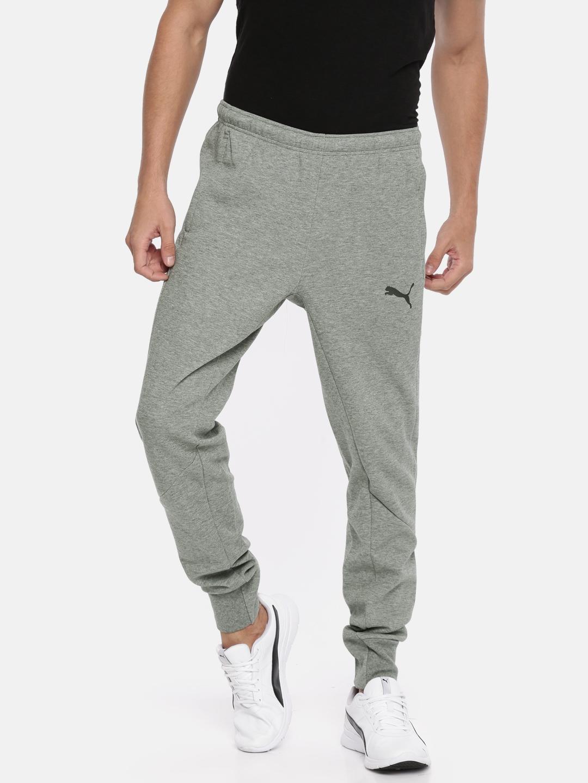 d4ddf03d3d2f Buy Puma Men Grey Ascension Casuals Solid Joggers - Track Pants for ...