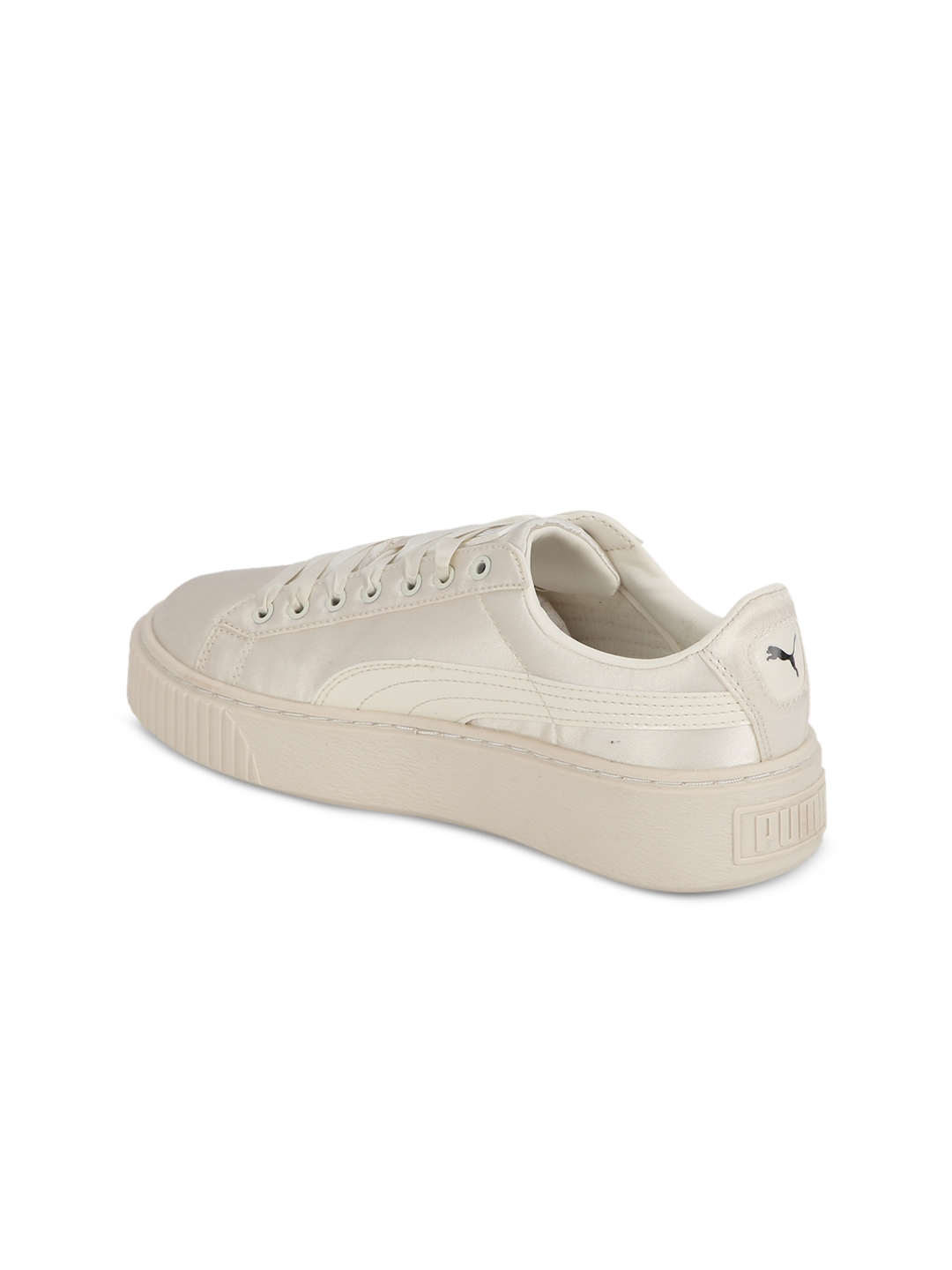 ce50abfbb62 Buy Puma Girls Off White Basket Platform Tween Jr Shoes - Sports ...