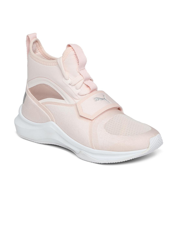 88a7fe9fd1d Buy Puma Girls Peach Coloured Textile Mid Top Phenom Jr Shoes ...