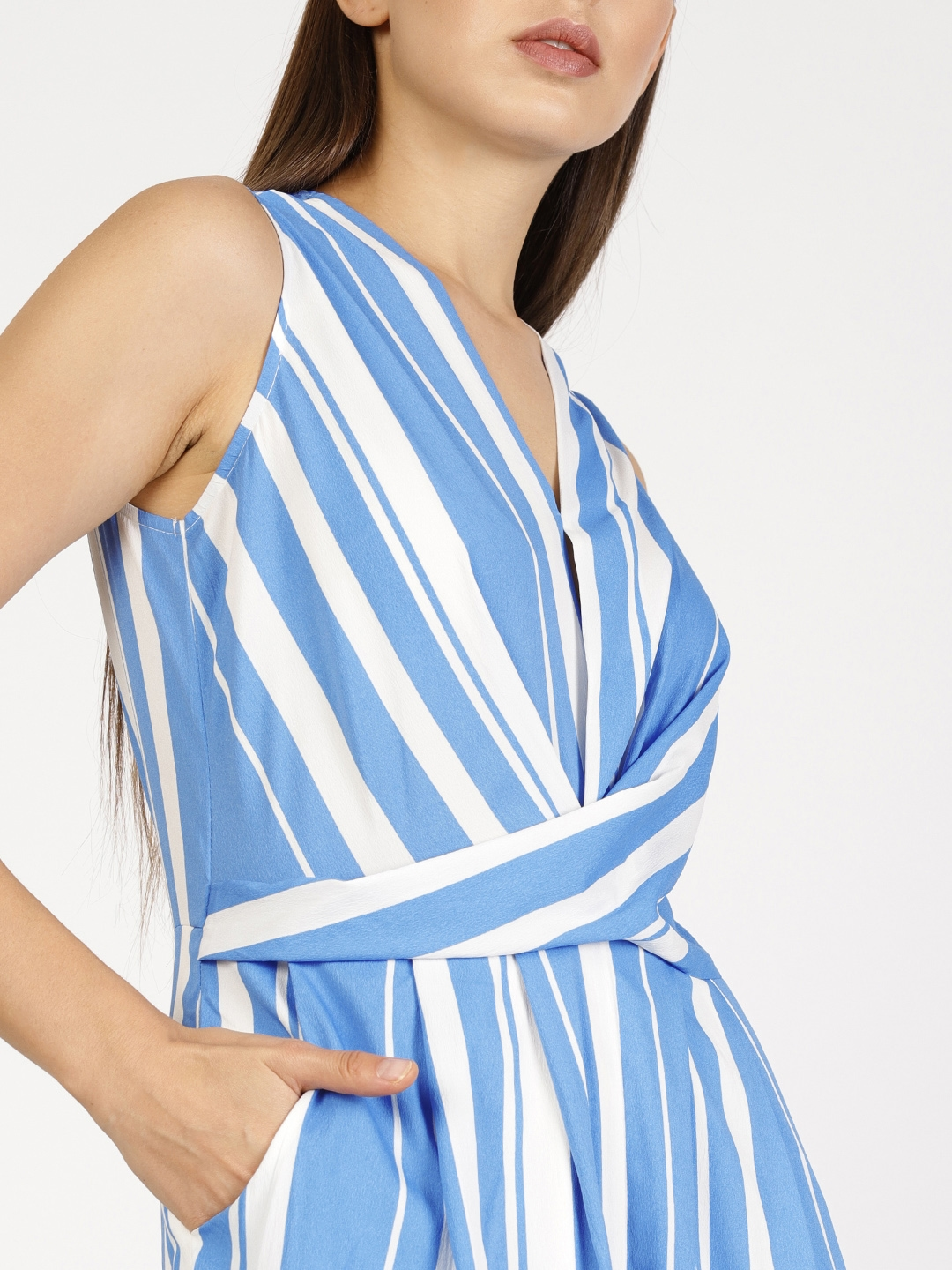 a1092787315 Buy Ether Blue   White Striped Culotte Jumpsuit - Jumpsuit for Women ...