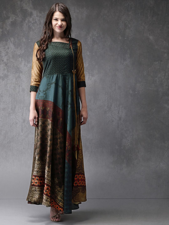 d714d9be5fb Buy Anouk Women Multicoloured Printed Anarkali Kurta - Kurtas for ...