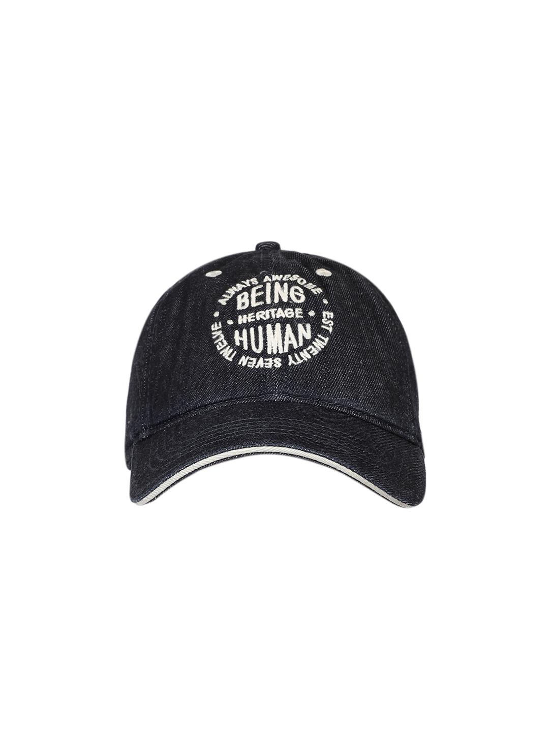 ad36770779a Buy Being Human Men Navy Blue Solid Baseball Cap - Caps for Men ...
