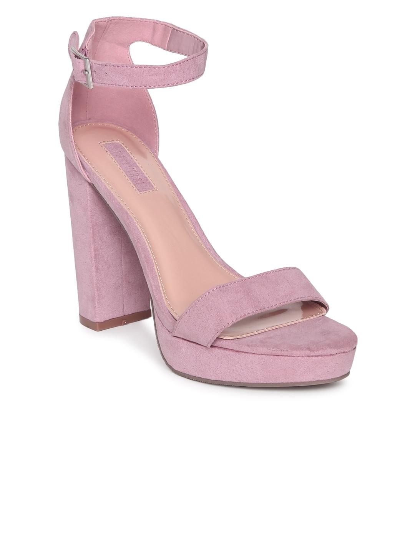 4cf7151460b Buy FOREVER 21 Women Lavender Suede Sandals - Heels for Women ...