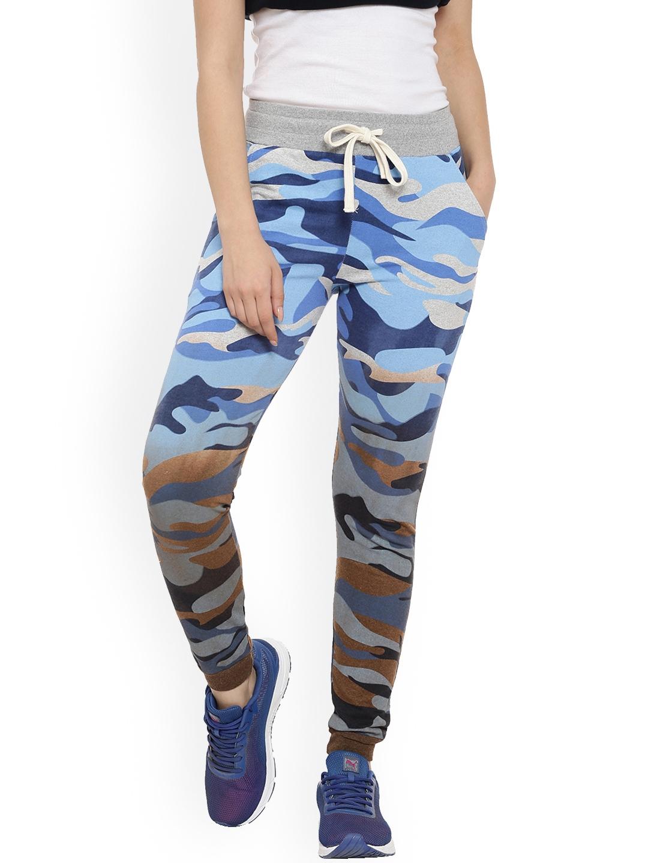6653c025b88fa Campus Sutra Women Multicoloured Ombre & Camouflage Print Joggers