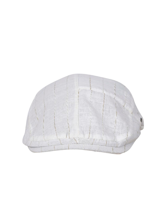6d2a60ff0 FabSeasons White Cotton Golf Flat Cap