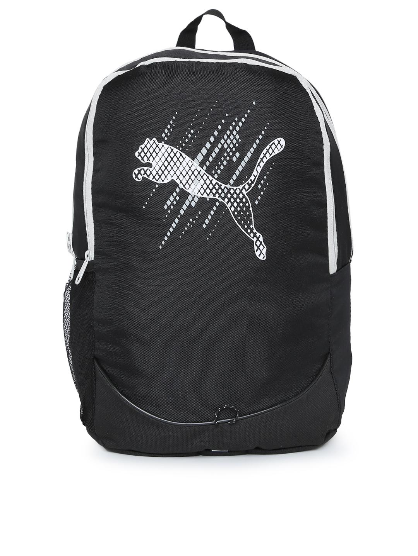 8e6c990a14af Buy Puma Unisex Black Pioneer Brand Logo Backpack - Backpacks for ...