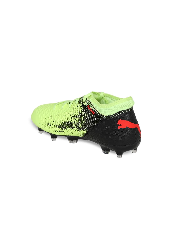 69311d3bcfa7d4 Buy Puma Boys Yellow Football Shoes FUTURE 18.4 FG AG Jr - Sports ...