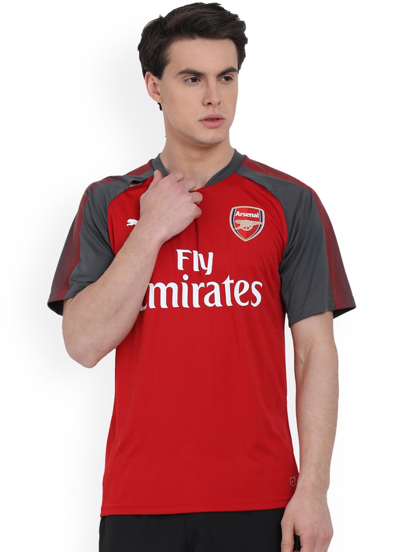 f7e8c3e2cf1 Buy Puma Men Red Printed Round Neck AFC Football Jersey - Tshirts ...