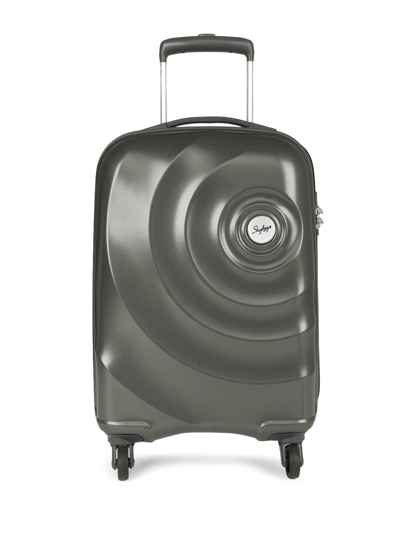 d3ba790a67 Buy Skybags Unisex Grey Mint Strolley 67 360 Medium Trolley Bag ...
