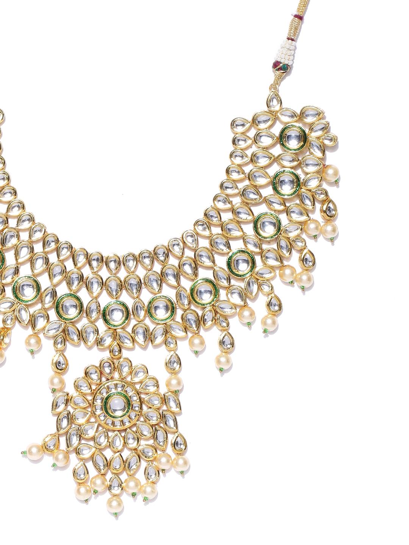 d4e4d7ece562d Buy Melani Borsa Off White 18K Gold Plated Kundan Studded ...
