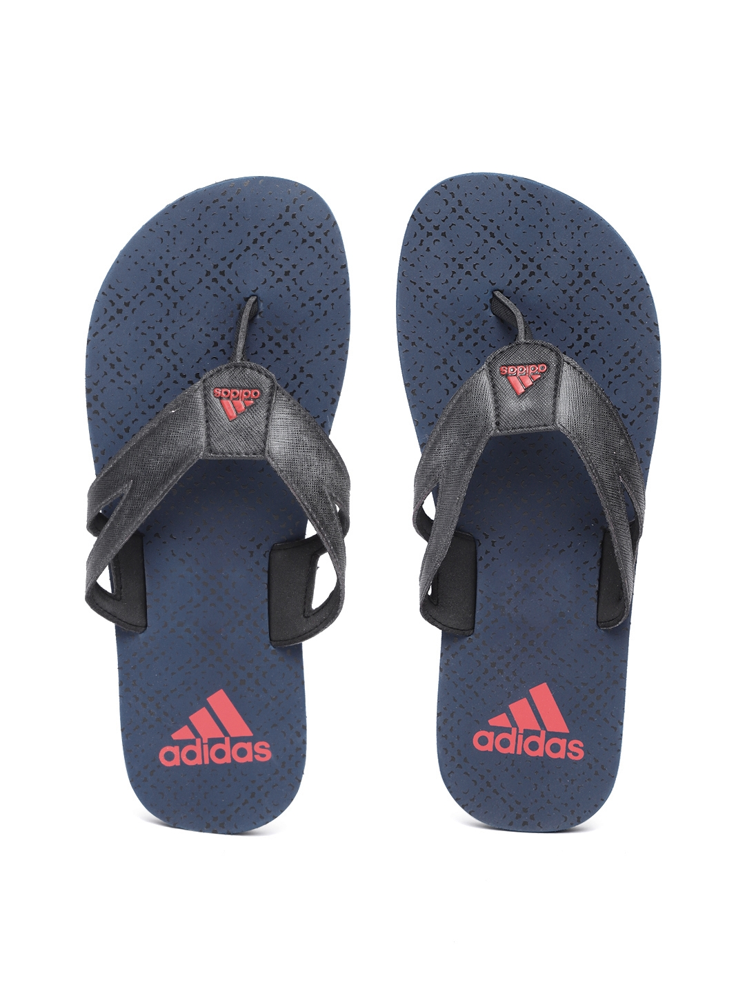 643daa023017 Buy ADIDAS Men Charcoal Grey   Navy Blue OZOR Printed Thong Flip ...