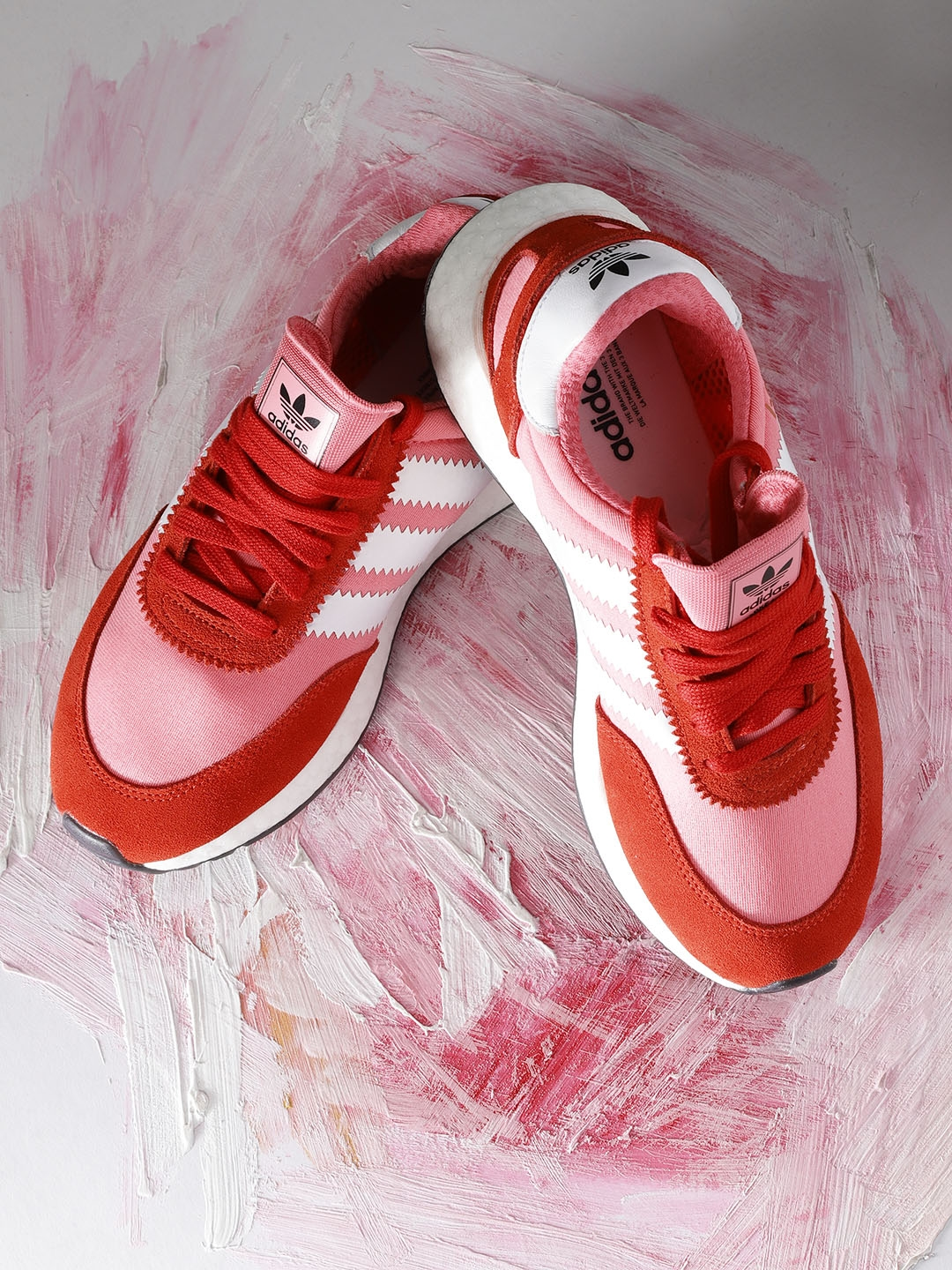 b50fc2bf5406c4 Adidas Originals Women Pink   Red INIKI Runner Colourblocked Sneakers
