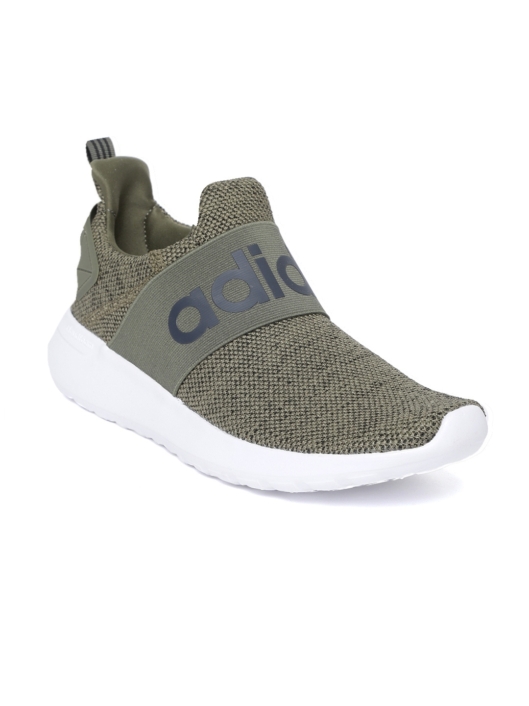 9cf0e31d258ce Buy ADIDAS Men Olive Green Cloudfoam Lite Racer Adapt Running Shoes ...