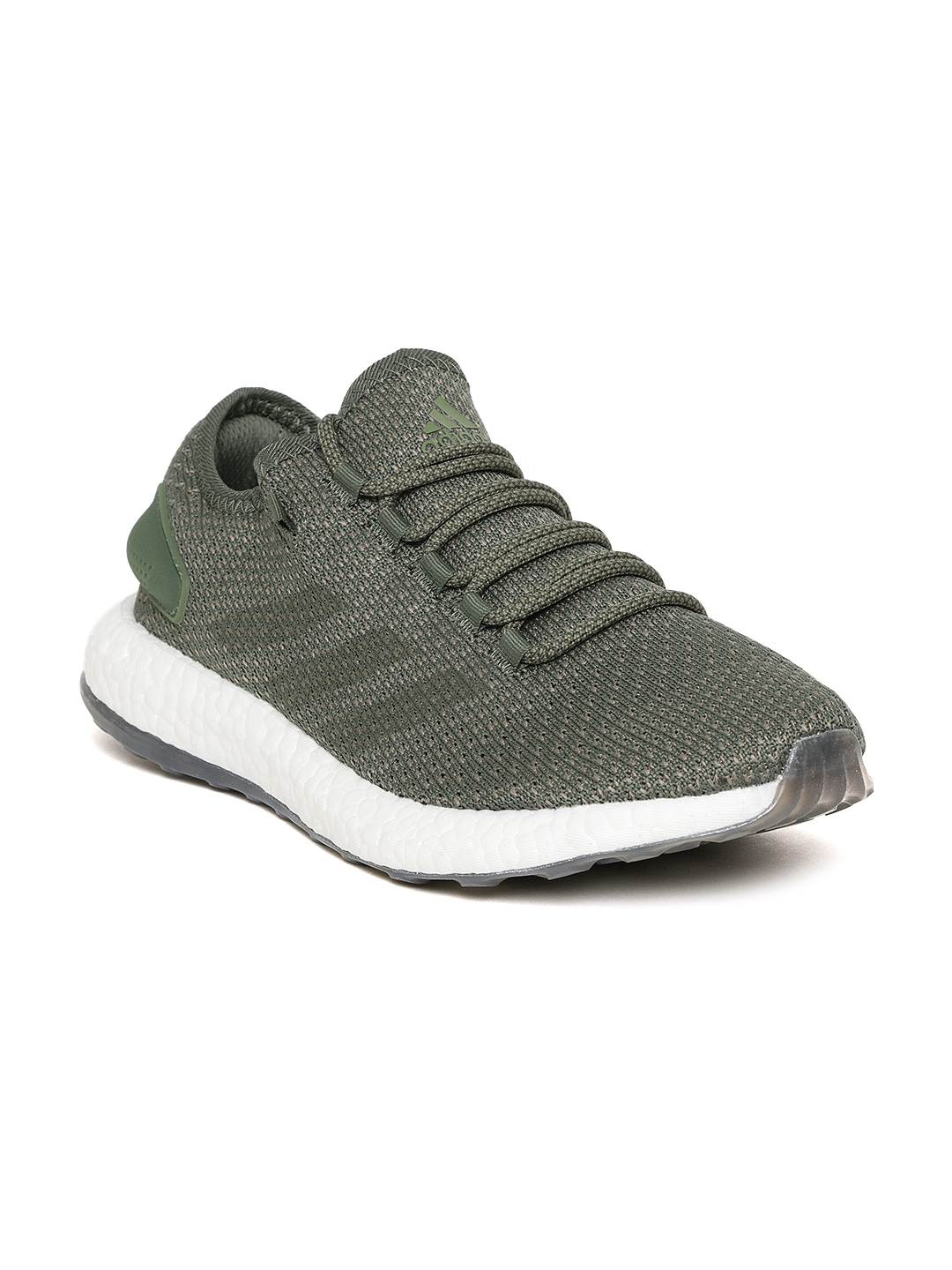 606d9e37efa Buy ADIDAS Men Olive Green Pureboost Clima Running Shoes - Sports ...