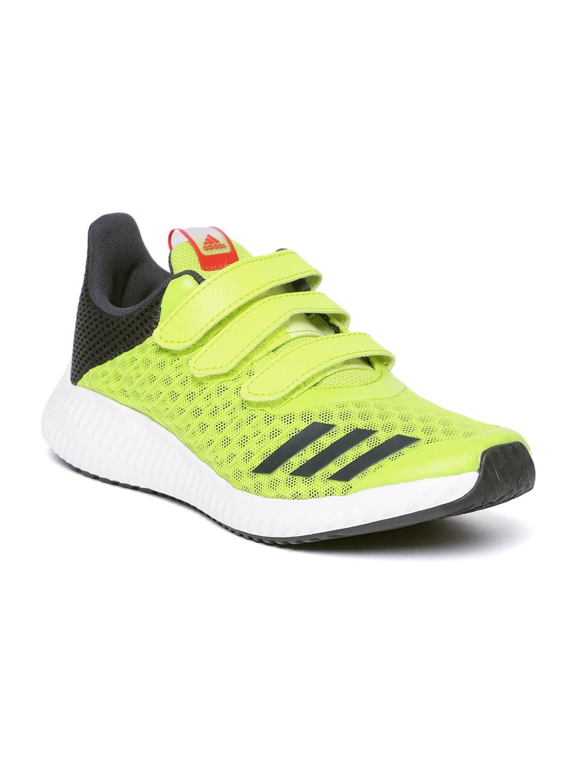 new product 3f10e 42285 Adidas Kids Fluorescent Green FORTARUN Cool CF K Running Shoes