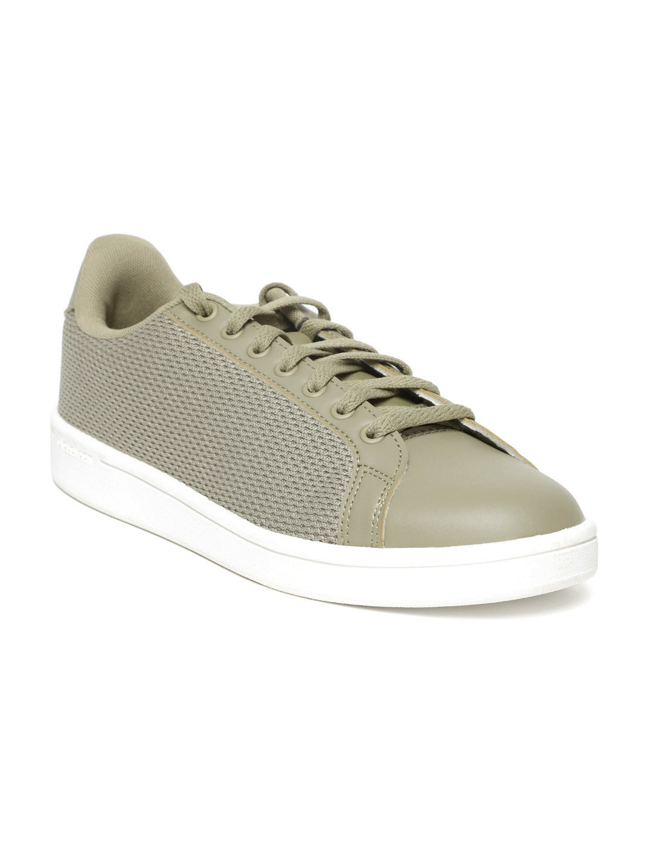 05845ec1e2f Buy Adidas Men Olive Green Cloudfoam Advantage Clean Tennis Shoes ...