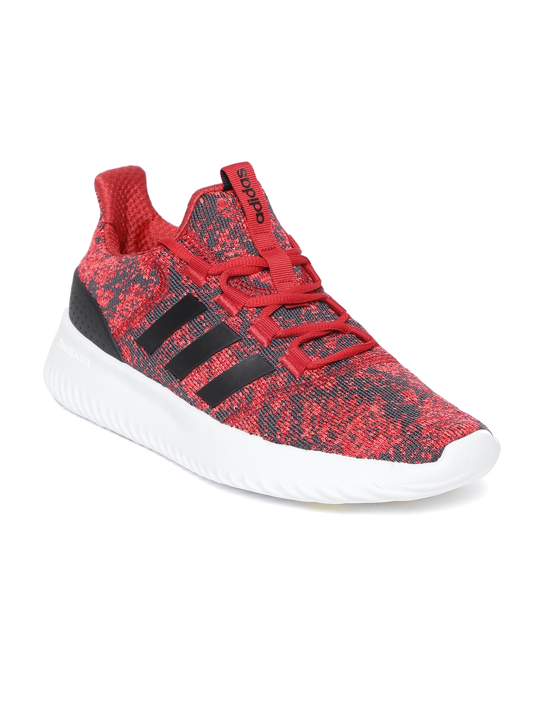 size 40 44a67 88727 ADIDAS Men Red   Charcoal Grey Cloudfoam Ultimate Patterned Running Shoes
