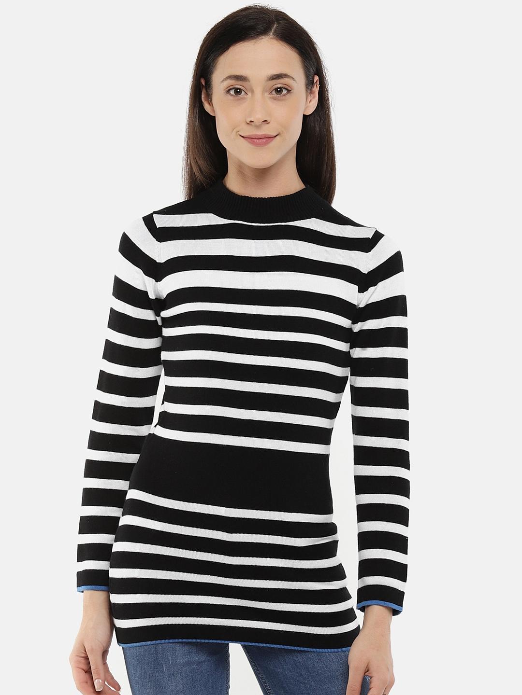 31a1c622 Buy Manola Black & White Striped Tunic - Tunics for Women 6633288 ...