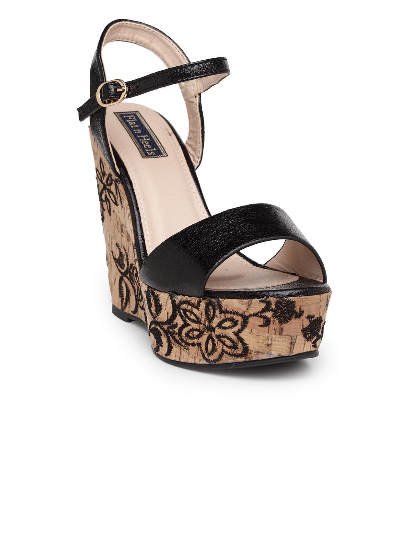 4ebb5b0f Buy Flat N Heels Women Black Solid Sandals - Heels for Women 6670313 ...