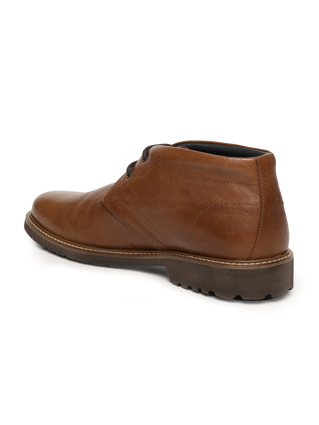 df0aab9a77f Buy Language Men Brown Solid Genuine Leather Mid Top Derbys - Casual ...