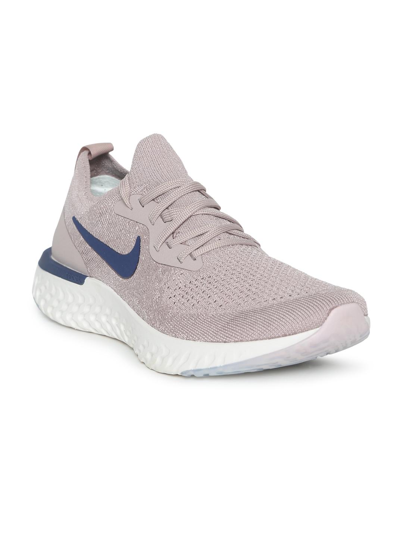 e1c465e6f09 Buy Nike Men Taupe Epic React Flyknit Running Shoes - Sports Shoes ...
